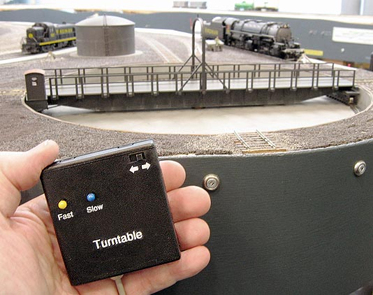 Turntable hand control